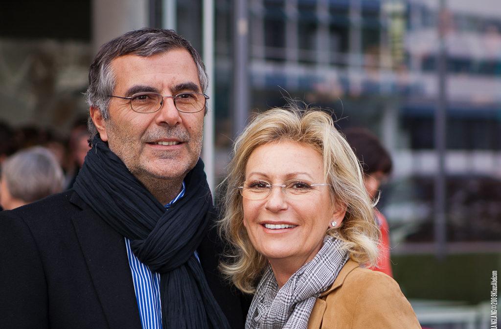 Actor: Sabine Christiansen und Norbert Medus, Location: On Location Offenburg Germany, Title: LangLa