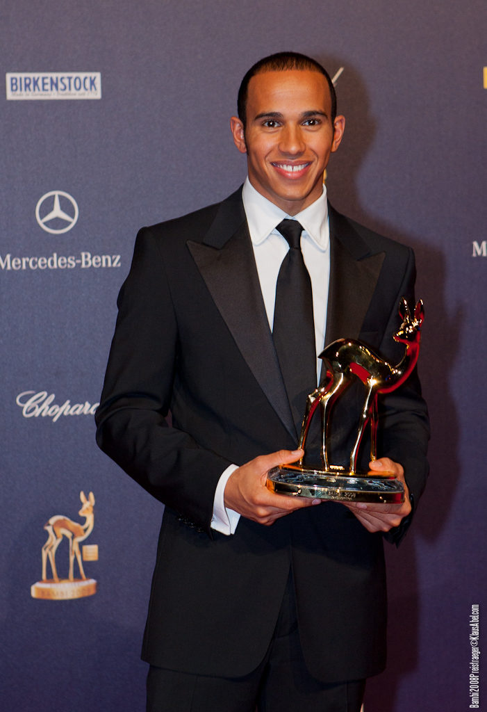 Actor: Lewis Hamilton, Client: BadenOnline.de  Location: On Location Offenburg Germany, Title: Bambi