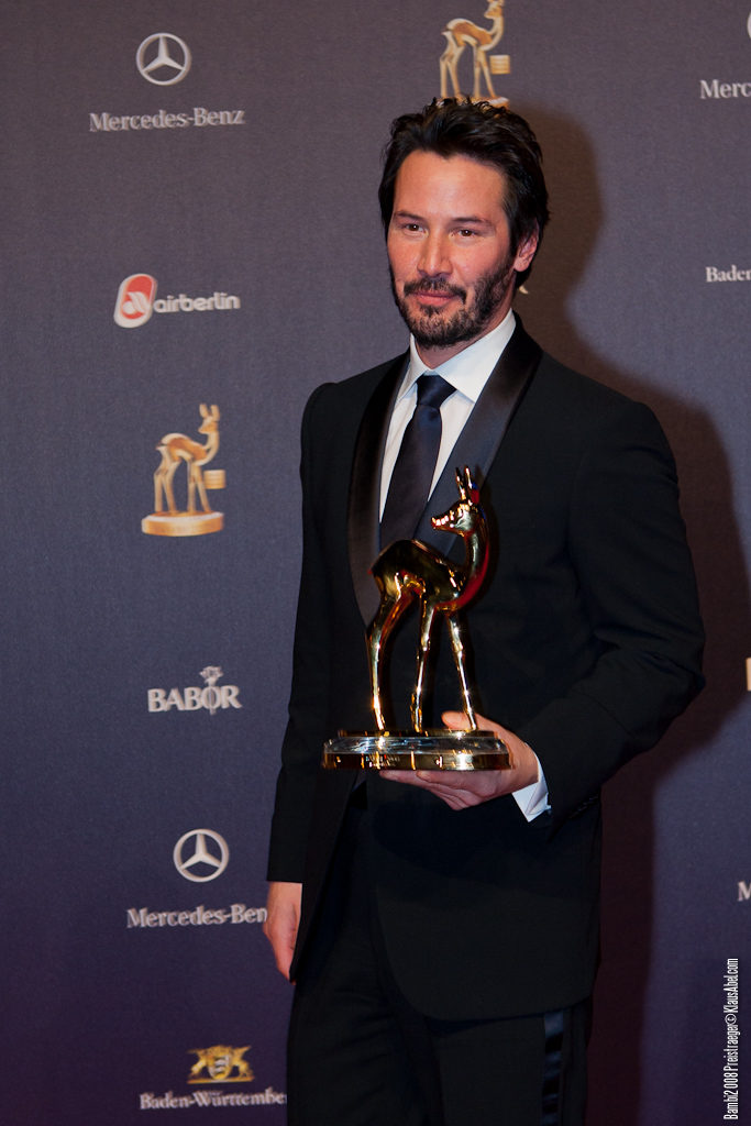 Actor: Keanu Reeves, Client: BadenOnline.de  Location: On Location Offenburg Germany, Title: Bambi 2