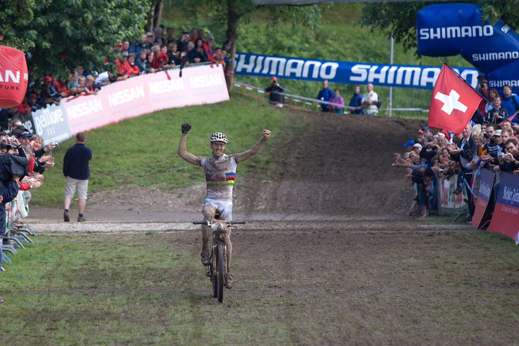 Actor: Julien Absalon, On Location Offenburg Germany Title: UCI Worldcup 2007