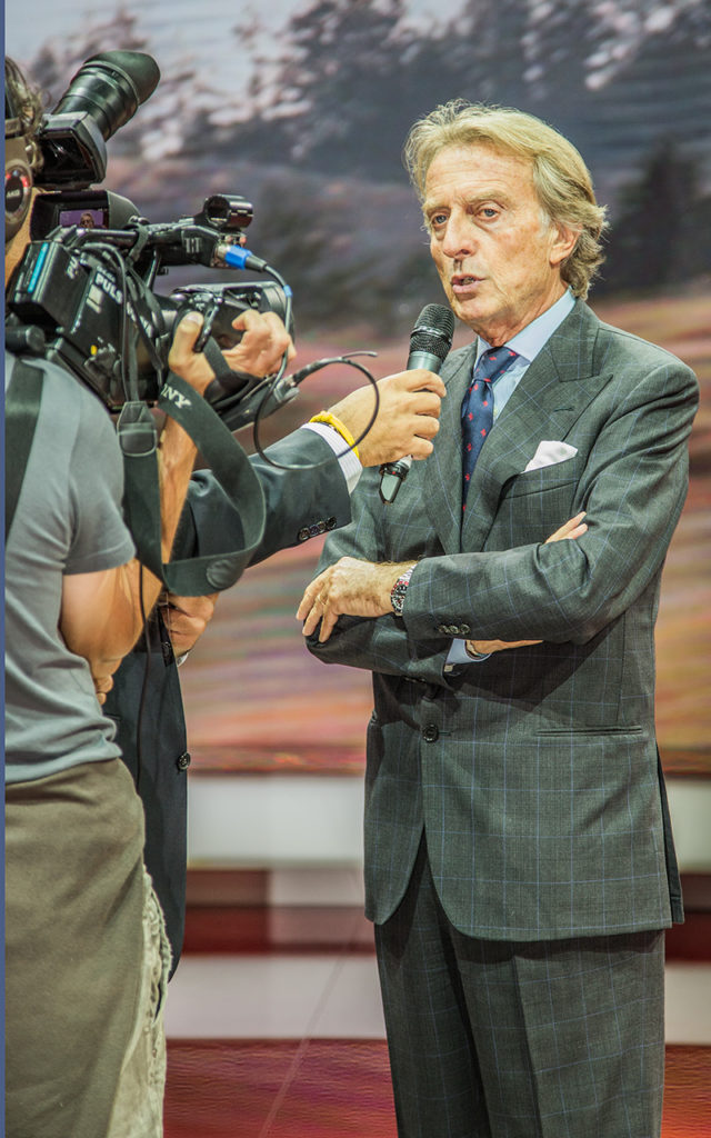 Actor: Ferrari-Chef Luca di Montezemolo, On Location Frankfurt Germany Title: IAA 2013