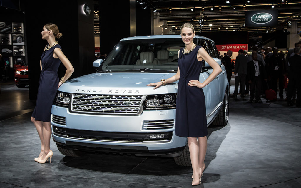 Actor: Range Rover, On Location Frankfurt Germany Title: IAA 2013